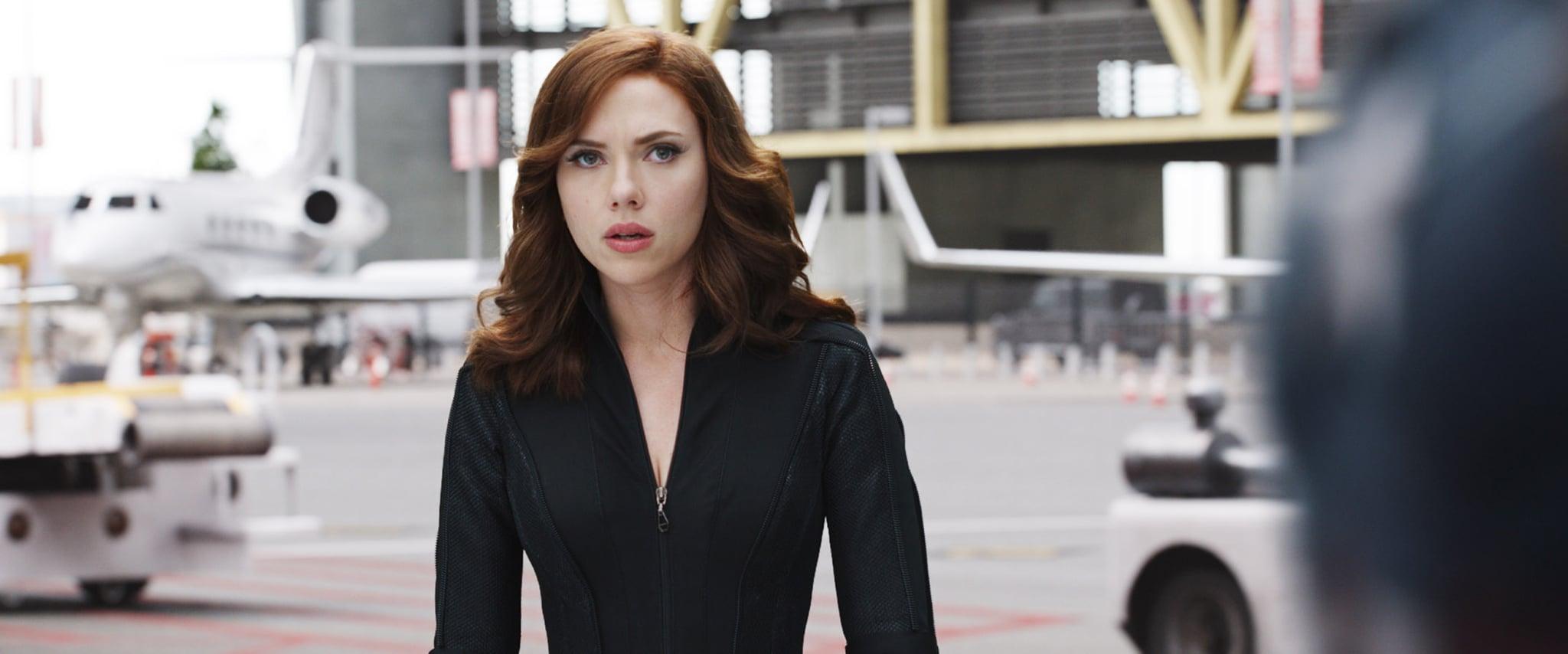 CAPTAIN AMERICA: CIVIL WAR, Scarlett Johansson (as Black Widow/Natasha Romanoff), 2016.  Walt Disney Studios Motion Pictures / courtesy Everett Collection