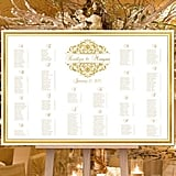 Gold Graphics Reception Seating Plan