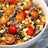 Quinoa, Black Bean, Corn, and Tomato Salad