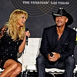 Tim McGraw and Faith Hill Get Cute to Talk Vegas Plans