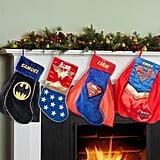 Superman, Supergirl, Batman, or Wonder Woman Personalized Christmas Stocking