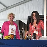 Claire Robinson invited Anne Burrell up to the stage to taste one of her cocktails.