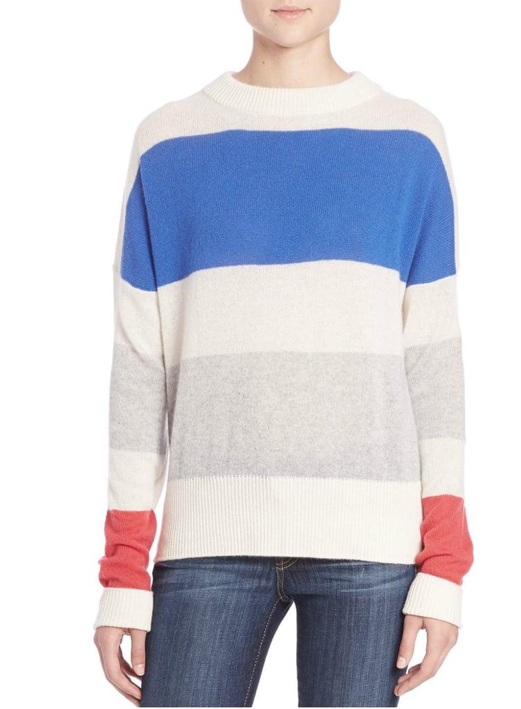 Tibi Striped Cashmere Sweater ($485)