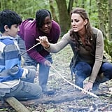 Kate Middleton hung out with children from Expanding Horizons' primary school outdoor camp.