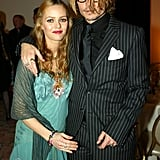 Vanessa Paradis and Johnny Depp got close backstage in 2004.