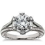 Monique Lhuillier Baguette Hexagon Engagement Ring ($3,125 for setting)