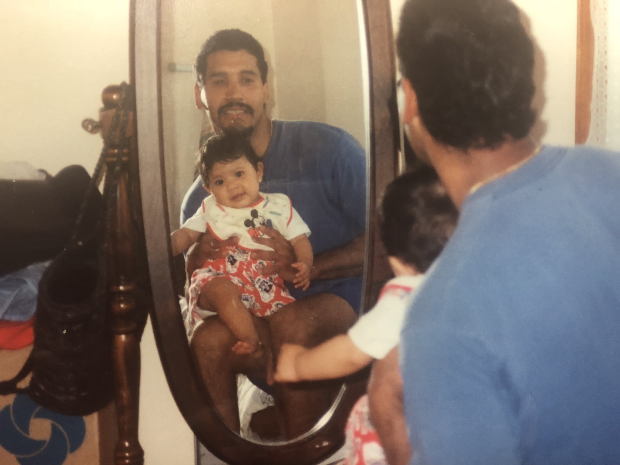A 90s selfie with my father, el conguero.
