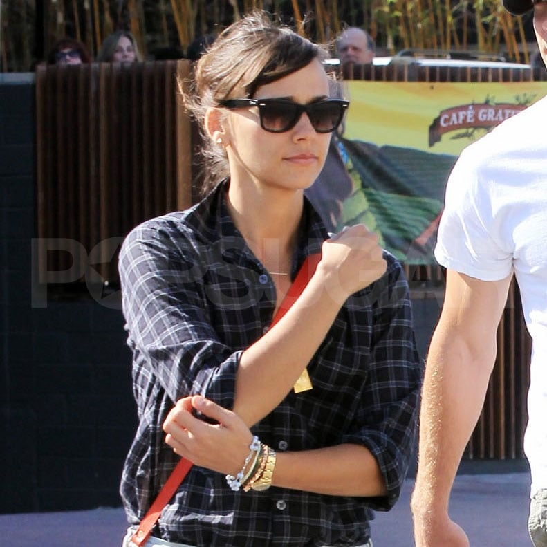 Rashida Jones leaves lunch with Jake Gyllenhaal.