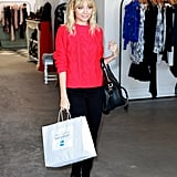 Nicole Richie went shopping at Satine.