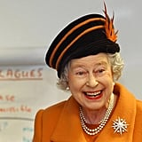 Queen Elizabeth II at a visit to The Royal Veterinary College in 2003