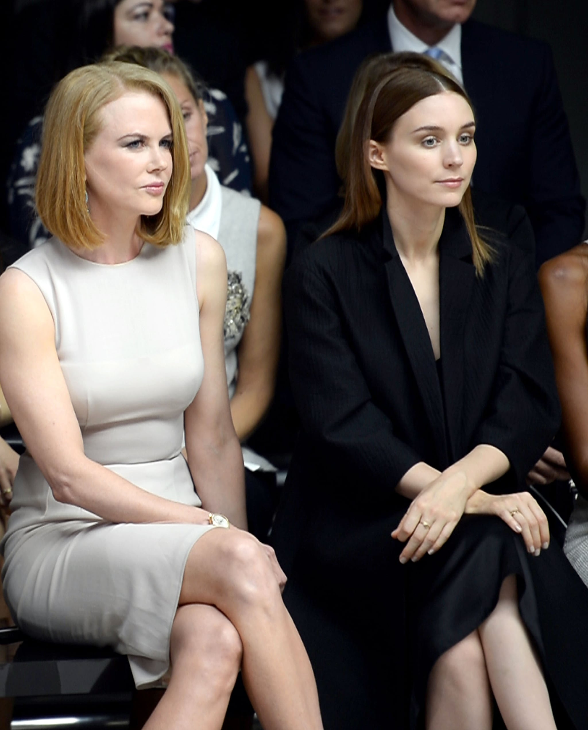 Nicole Kidman and Rooney Mara were neighbors in the front row of Thursday's Calvin Klein show.