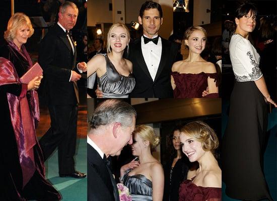 Natalie Portman, Scarlett Johannson, Eric Bana and Prince Charles Attend the Premiere of The Other Boleyn Girl in London