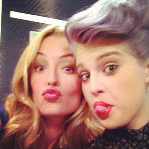 Kelly Osbourne and Cat Deeley palled around on the set of Fashion Police. Source: Instagram user kellyosbourne