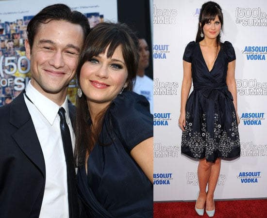 Photos of Zooey Deschanel, Shenae Grimes, Joseph Gordon-Levitt at the LA Premiere of 500 Days of Summer
