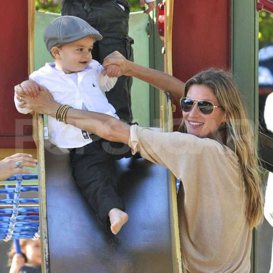 Gisele Bundchen Pictures With Benjamin Brady and Jack Moynahan