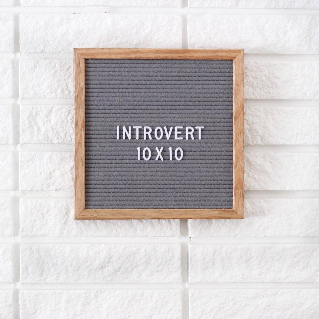 Introvert Felt Letter Board  ($29, originally $48)