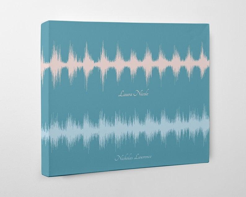 Baby Heartbeat Art Sound Wave Canvas