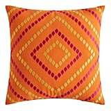 Multi Diamonds Orange and Yellow Pillow
