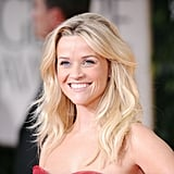 Reese Witherspoon hit the red carpet with beachy hair.