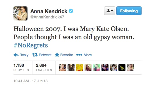 Anna Kendrick's 2007 Halloween costume left some people confused.