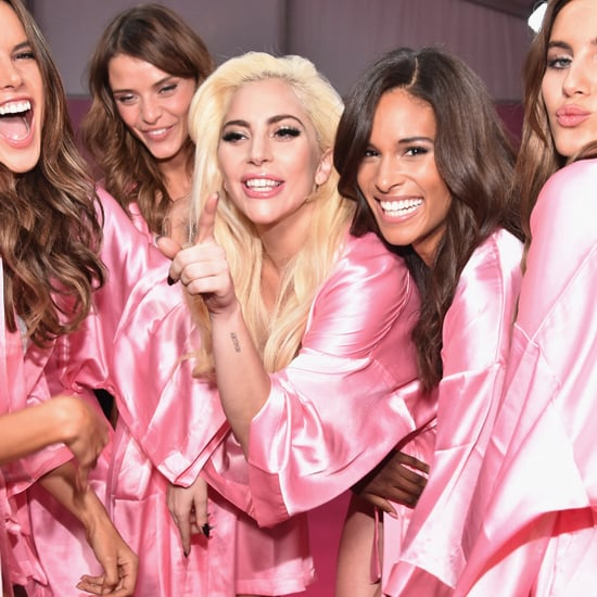 "Lady Gaga Victoria's Secret Angels Singing ""Million Reasons"""