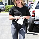 Hilary Duff was all smiles in LA on Tuesday as she ran errands.