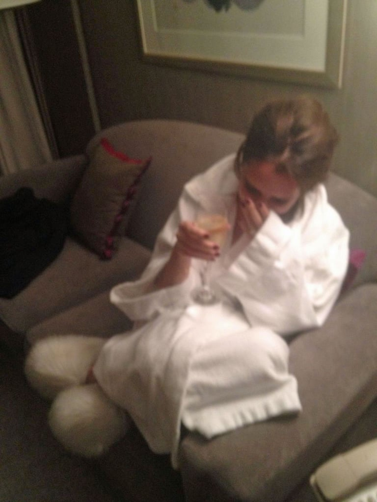Ken Paves snapped a late night photo of Victoria Beckham from her hotel room. Source: Twitter User VictoriaBeckham