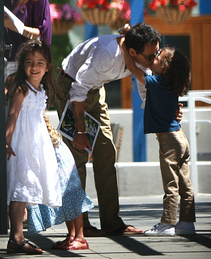 Marc anthony gave a kiss to son max jennifer lopez and marc marc anthony gave a kiss to son max m4hsunfo