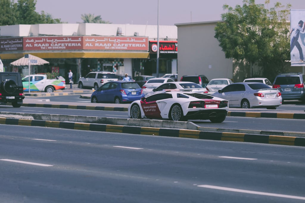 UAE Ministry of Interiors Drives Lamborghini Aventador Coupe