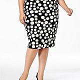 ECI Polka-Dot Pencil Skirt