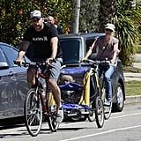 Liev Schreiber and Naomi Watts rode through Brentwood.
