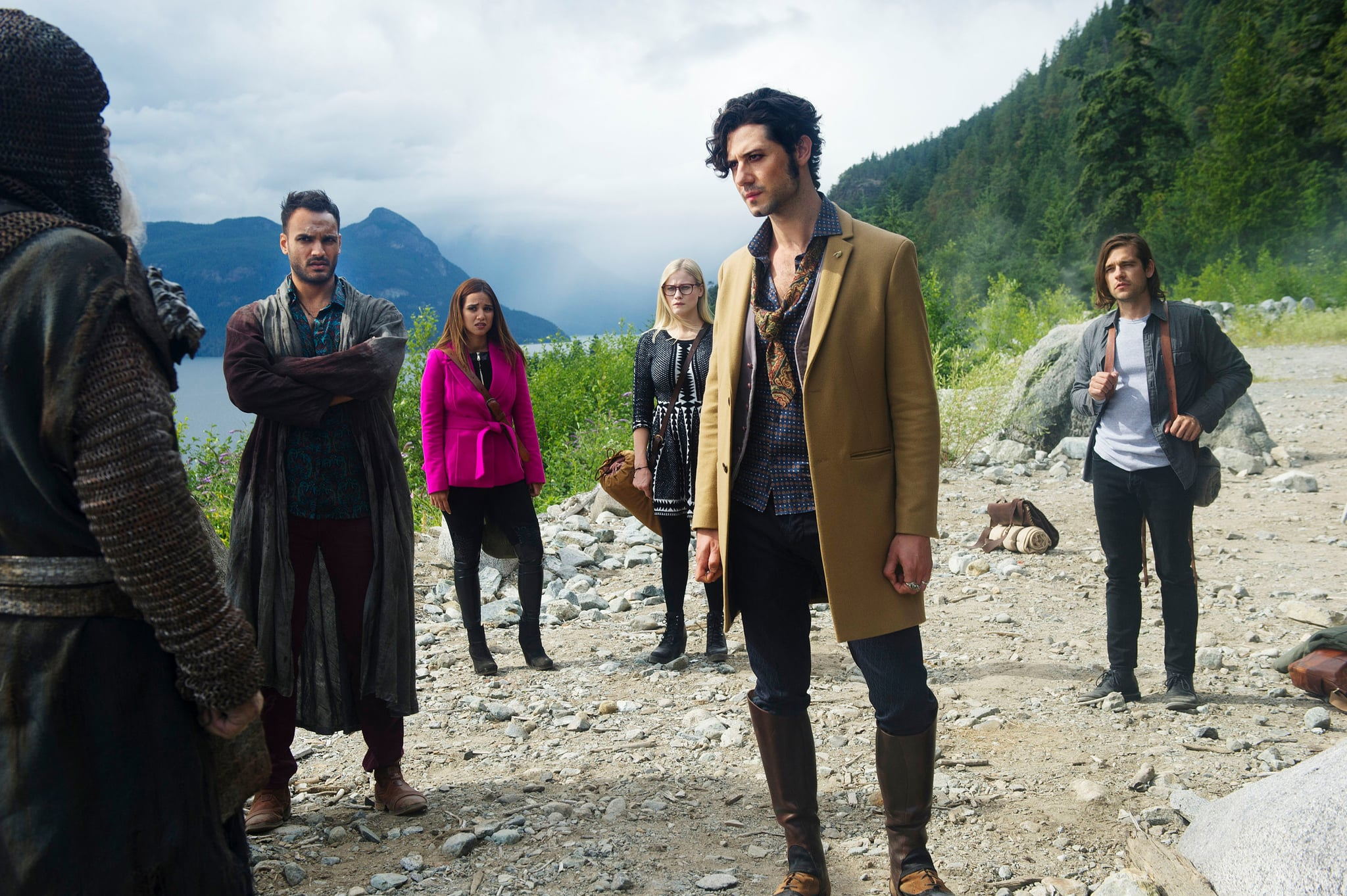 THE MAGICIANS, (from left): Arjun Gupta, Summer Bishil, Olivia Taylor Dudley, Hale Appleman, Jason Ralph, 'Knight of Crowns', (Season 2, ep. 201, aired Jan. 25, 2017). photo: Carole Segal / Syfy / Courtesy: Everett Collection