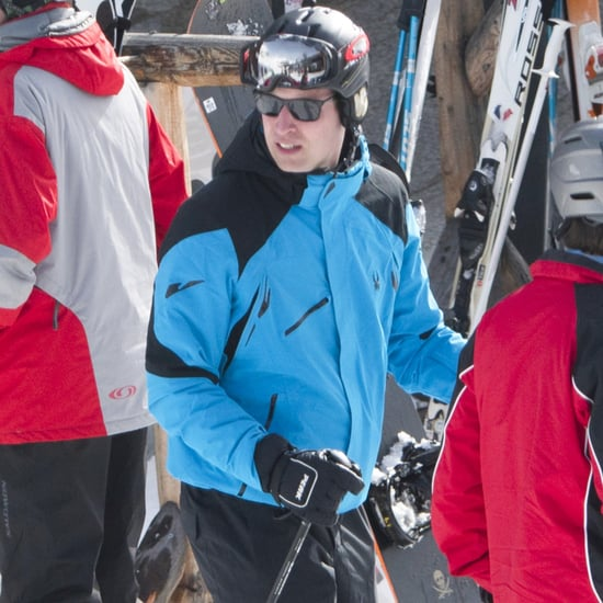 Prince William on Ski Trip in Switzerland March 2017