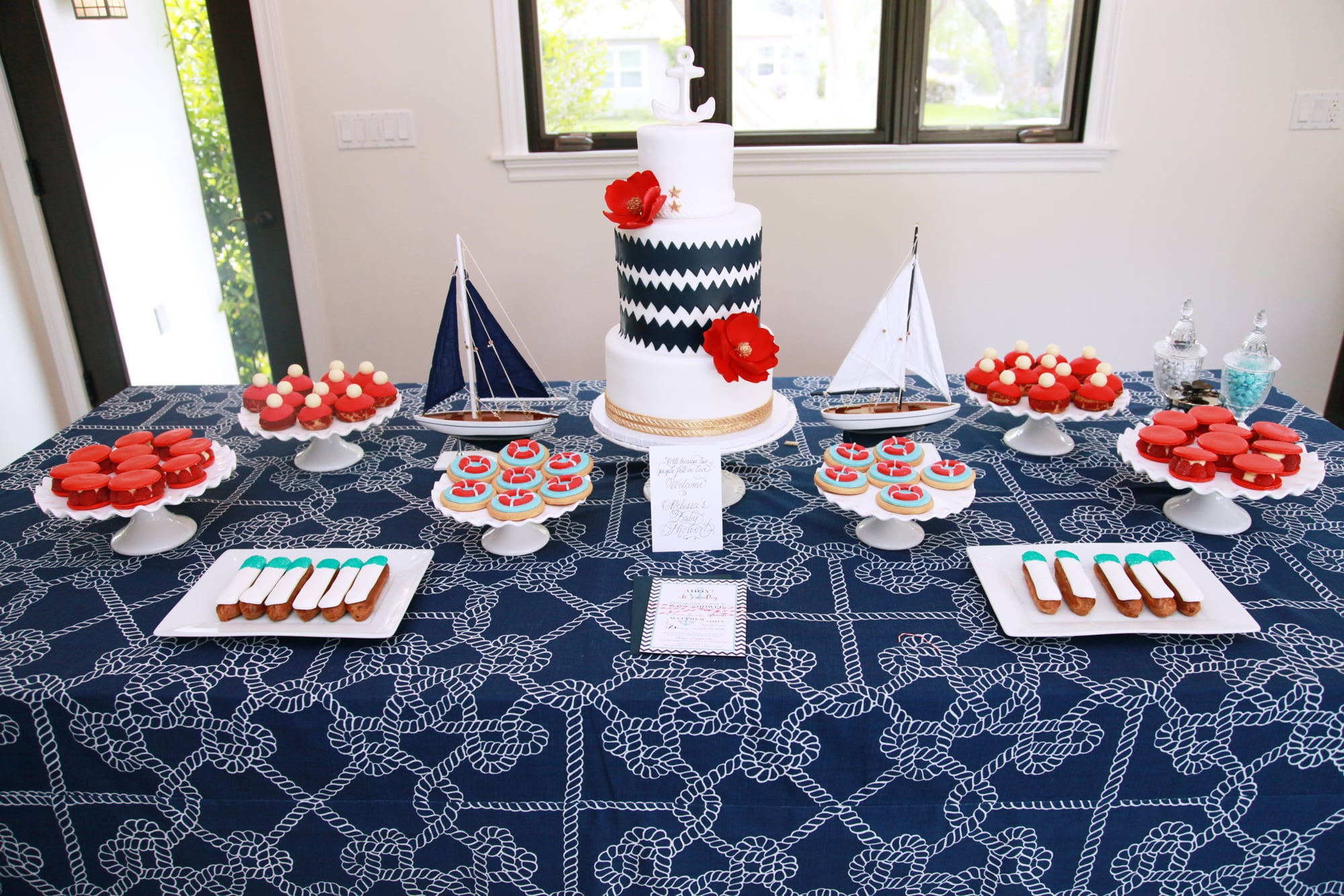 """Ahoy!"" A Nautical Dessert Table"