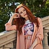 Shein x Madelaine Solid Tab Sleeve Blazer