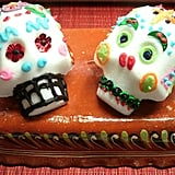 Tint homemade frosting with food coloring to decorate these skulls with bright and vivid detail.