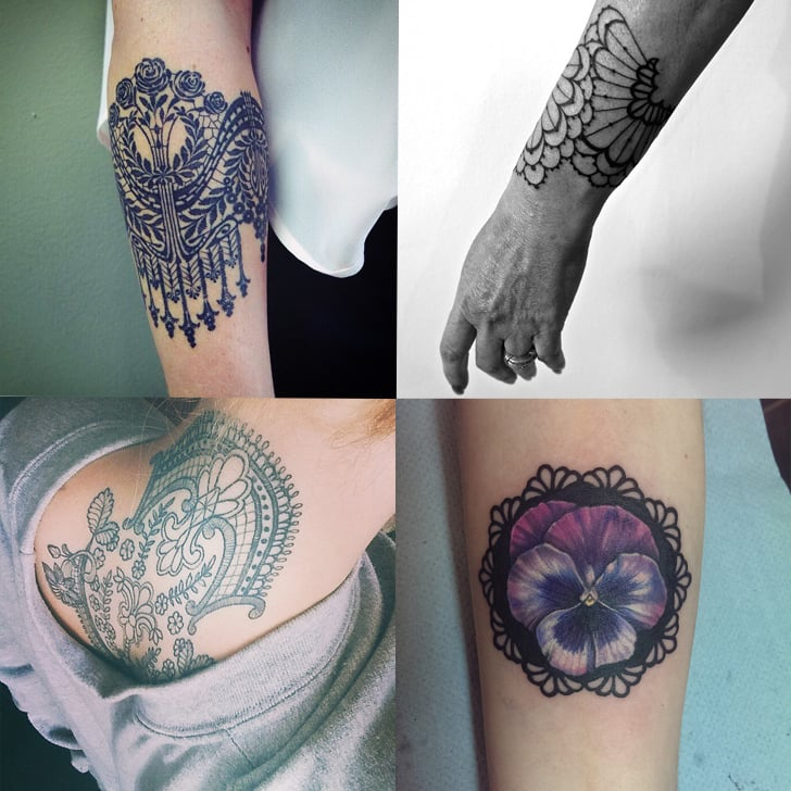 29 Lace Tattoos Too Beautiful to Cover Up | POPSUGAR