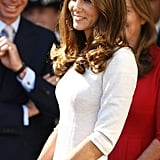 Kate is putting her princess training to use.
