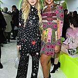 Kathryn Newton and Alexandra Shipp at the Valentino Paris Fashion Week Show