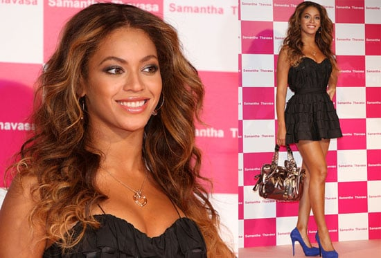 Photos of Beyonce Knowles Promoting Samantha Thavasa in Japan