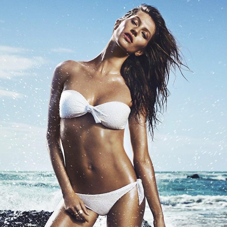 bf15930fe3 Gisele Bundchen Modelling Swimwear and Singing for H M