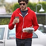 Adam Brody grabbed coffee and lunch solo in LA on Thursday.