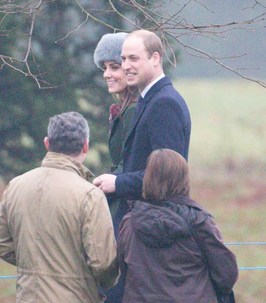 Kate Middleton and Prince William appeared to be in good spirits when they stepped out for morning church service at St. Mary Magdalene in England on Sunday. The couple bundled up for the cold weather and were joined by Prince Philip and Queen Elizabeth II, whose health concerns have been at the center of news recently. Noticeably missing, though, was Prince Harry, who is currently enjoying a romantic vacation in Norway with girlfriend Meghan Markle. The couple reportedly set two nights aside to see the Northern Lights and went on fun excursions, including whale watching and husky sledding. Now that Meghan and Harry have finally been photographed together, hopefully they'll make their official debut as a couple soon.      Related:                                                                                                           What Do the Royals Have in Store For 2017?