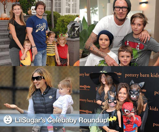 Pictures of Mark Wahlberg, Sarah Jessica Parker, and More Spending a Weekend With Their Kids