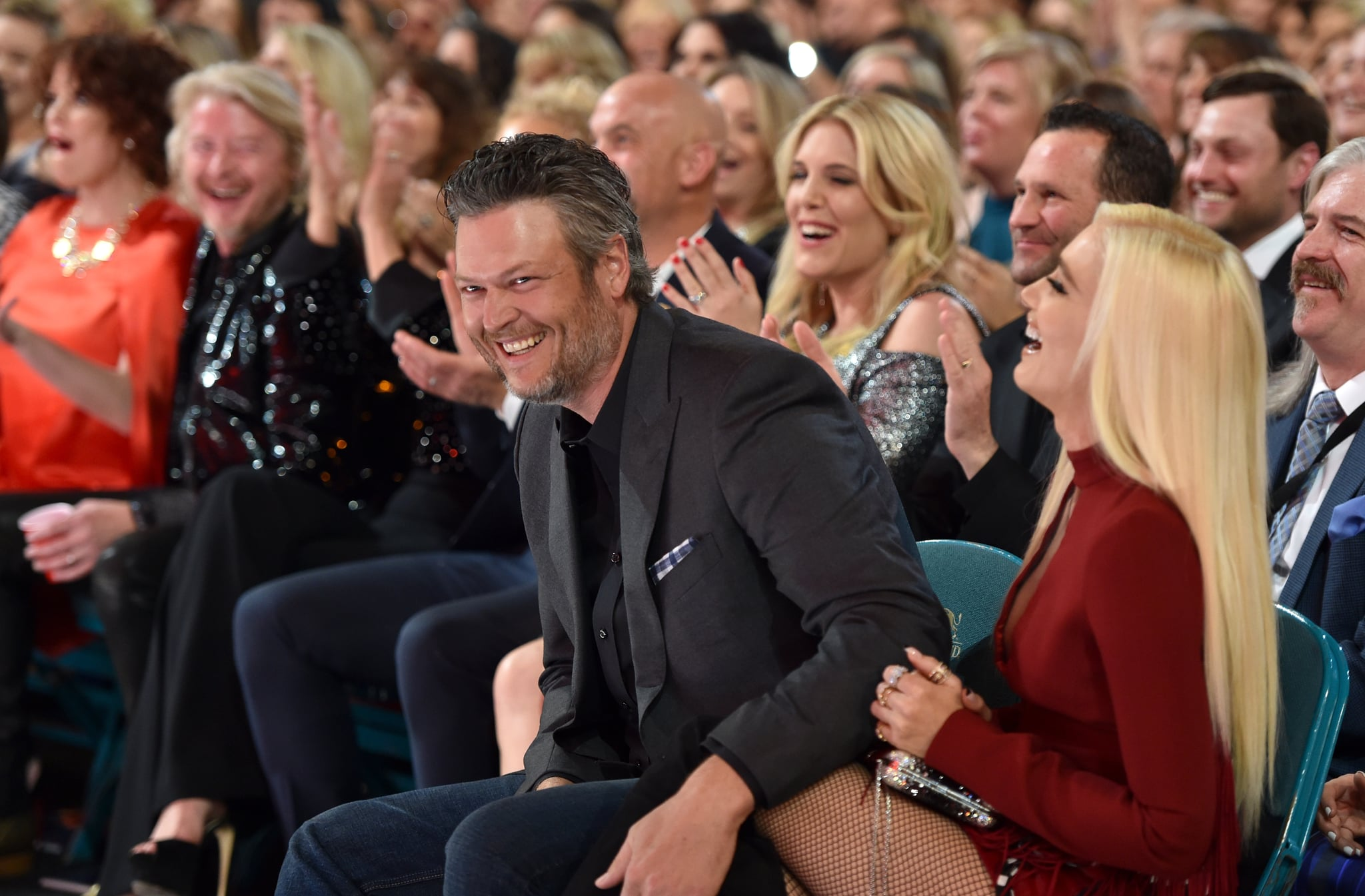 LAS VEGAS, NV - APRIL 15:  Blake Shelton and Gwen Stefani attend the 53rd Academy of Country Music Awards at MGM Grand Garden Arena on April 15, 2018 in Las Vegas, Nevada.  (Photo by John Shearer/ACMA2018/Getty Images for ACM)