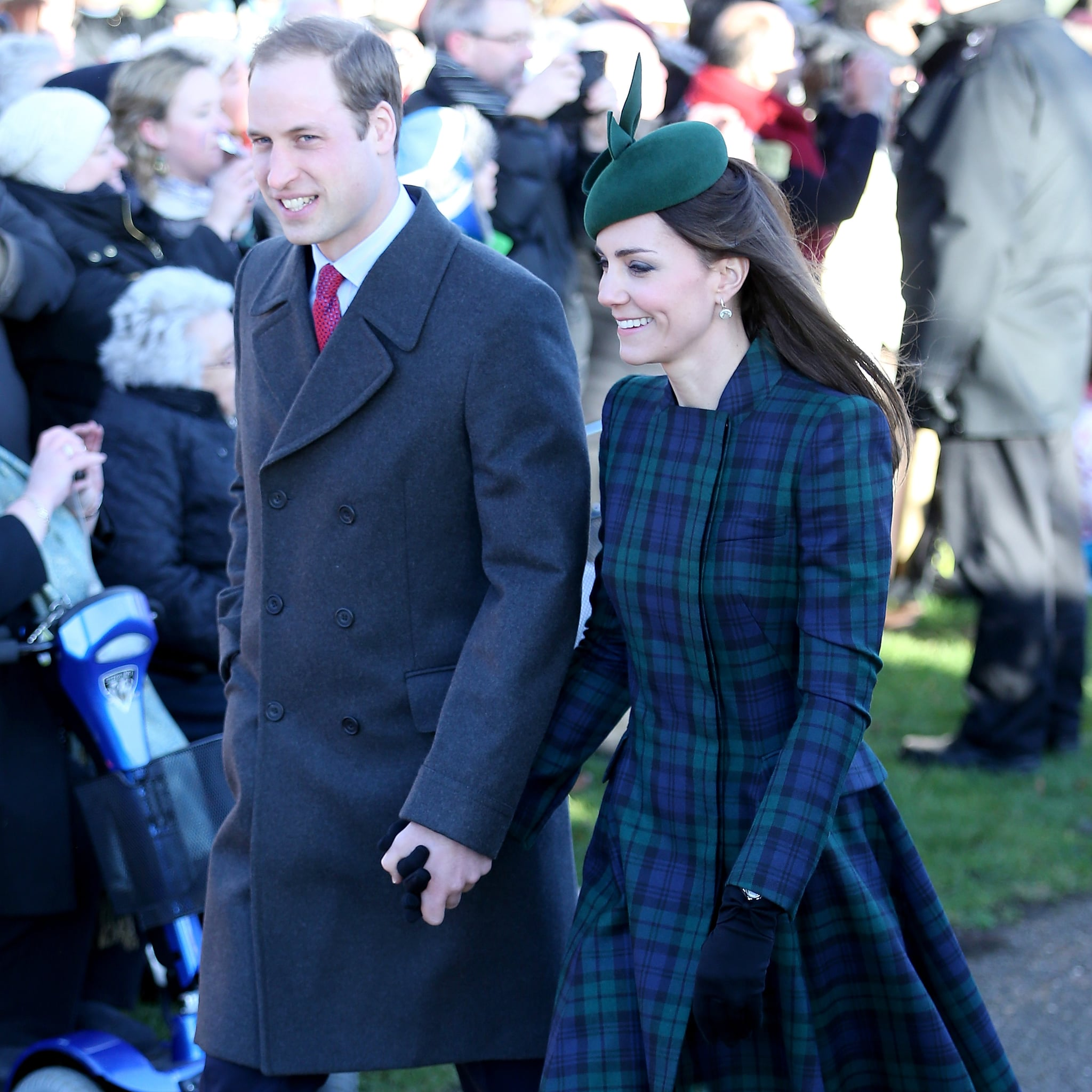 Prince William and Kate Middleton on Christmas Day 2013 | POPSUGAR ...