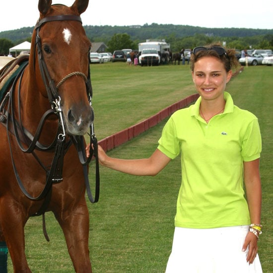 Natalie Portman hosted the 2002 Mercedes-Benz Polo Challenge in the Hamptons.