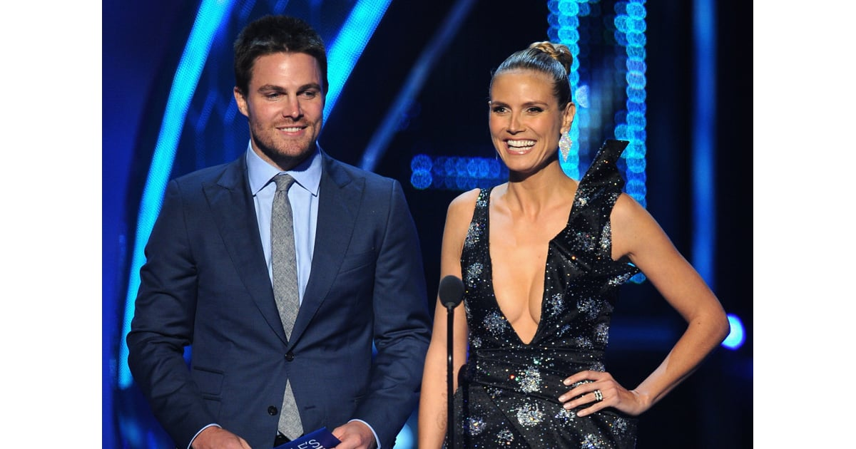 Heidi Klum And Stephen Amell Joked Around When They Played