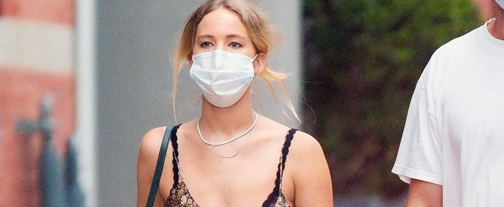 Jennifer Lawrence's Nili Lotan Slip Dress and Dior High-Tops