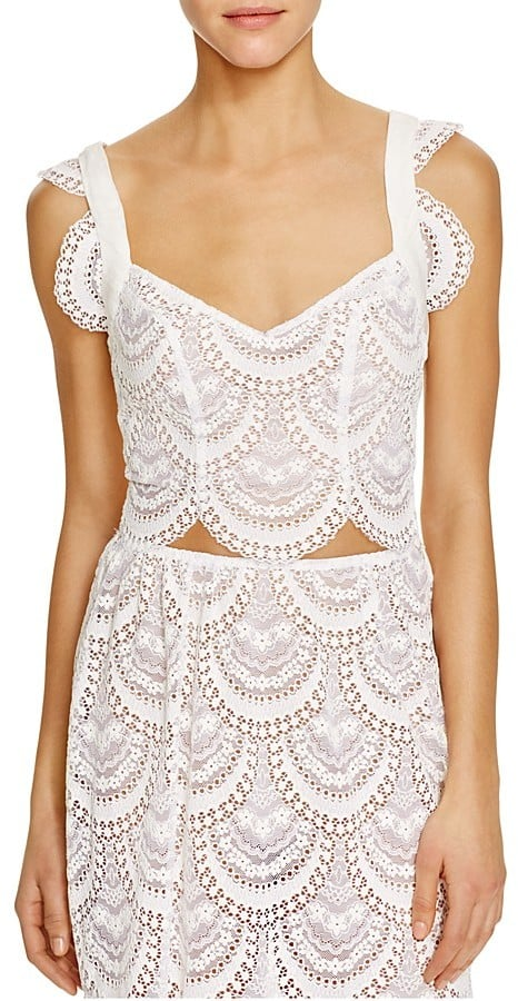 """The Tank: For Love & Lemons Rosalita Lace Scallop Crop Top ($190) The Glowing Review: """"This top is so flattering and looks very beautiful and unique. It fits true to size and provides enough support to wear it without bra. I am 5'3 and 32D and size XS fits perfectly."""""""